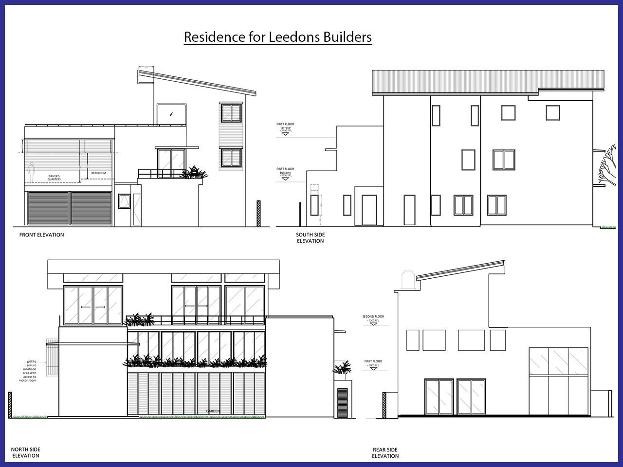Residence for Leedons Builders